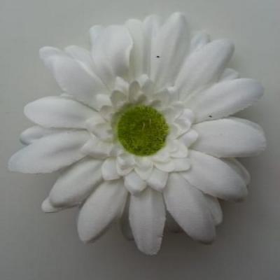 Fleur en tissu marguerite 70mm ivoire
