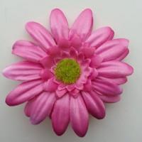 Fleur en tissu marguerite 70mm rose
