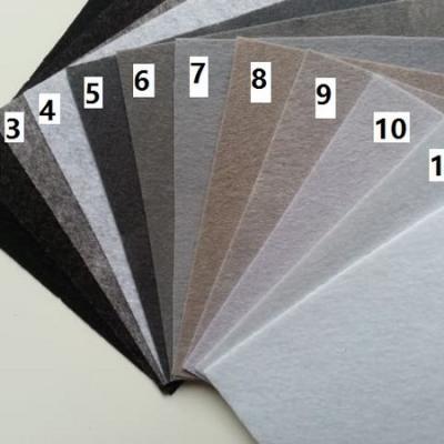 Feuille de feutrine unie 15 cm *15cm gris N11