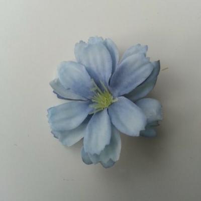 fleur en tissu bleu  40mm