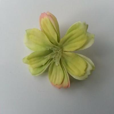 fleur en tissu vert  40mm