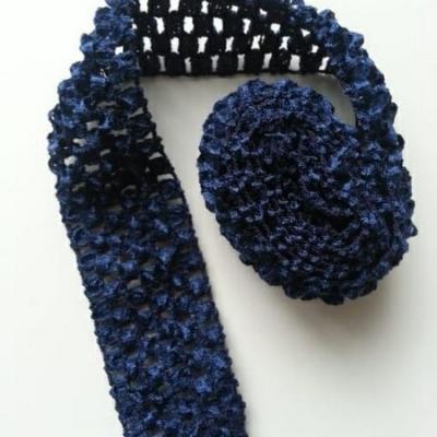 bandeau crochet au mètre bleu marine