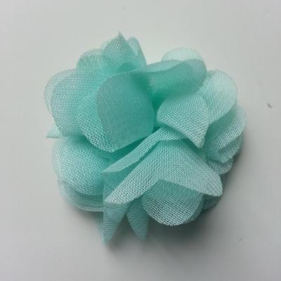 Petite fleur en mousseline 40mm vert pastel