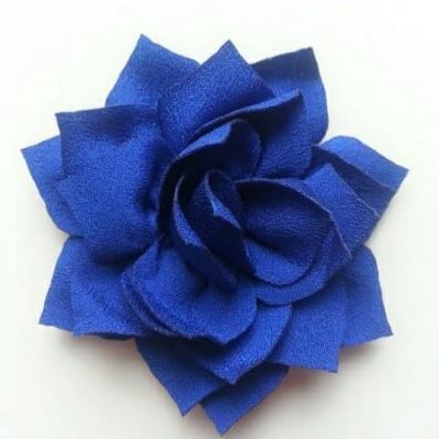 fleur en tissu bleu royal 70mm