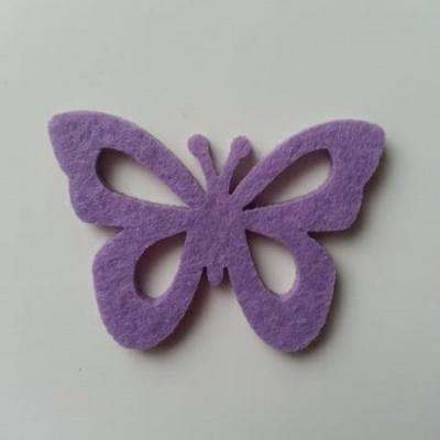 papillon  en feutrine mauve 55*40mm