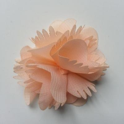 Petite fleur en mousseline 45mm peche