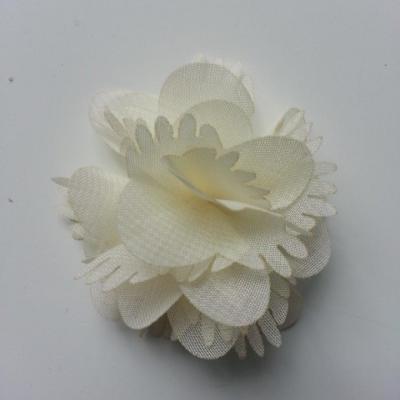 Petite fleur en mousseline 45mm ivoire