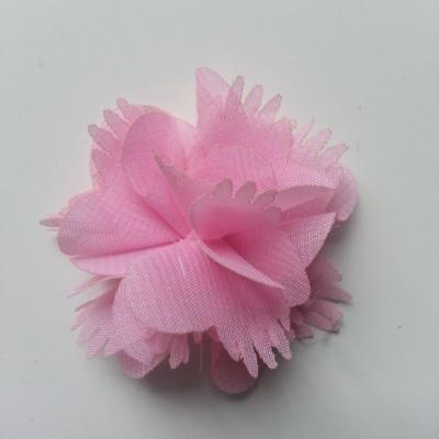 Petite fleur en mousseline 45mm rose