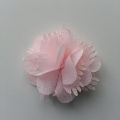 Petite fleur en mousseline 45mm rose pale
