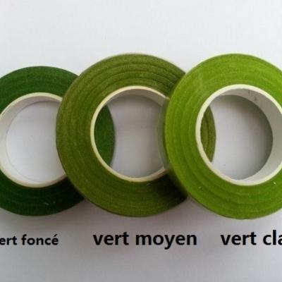Rouleau de floraltape  pour la fabrication de fleurs et assemblage vert foncé