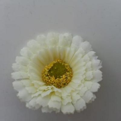 fleur artificielle gerbera en tissu ivoire 50mm