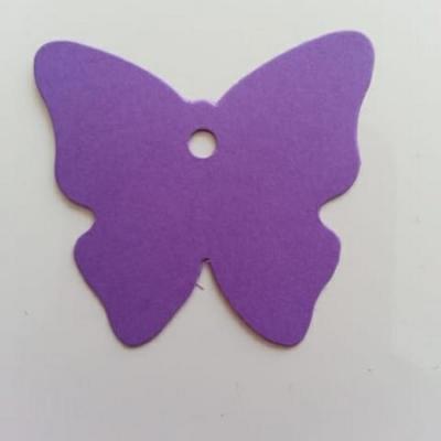 lot de 40 étiquettes marque place  papillon mauve 45mm