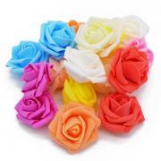 30pcs lot 5cm font b foam b font artificial fake rose font b flower b font