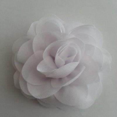 fleur de pavot en mousseline 80mm blanc