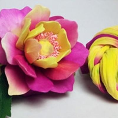 N0034 collant triple couleur  pour la création de fleurs, papillons, raquettes dragées