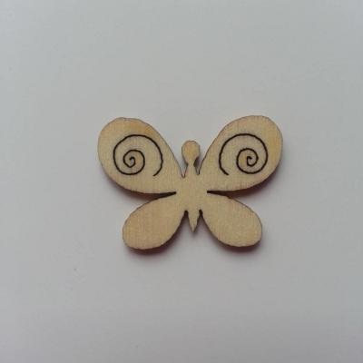papillon  en bois naturel  28*20mm