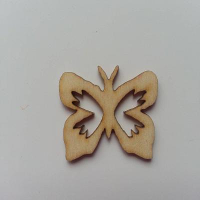 papillon  en bois naturel  25*25mm (1)