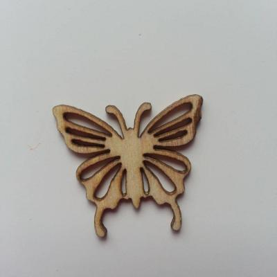 papillon  en bois naturel  25*25mm (2)
