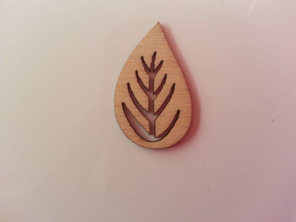 3502699 feuille en bois naturel 30 19mm 1