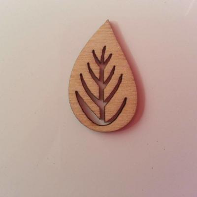 feuille en bois naturel  30*19mm(13)