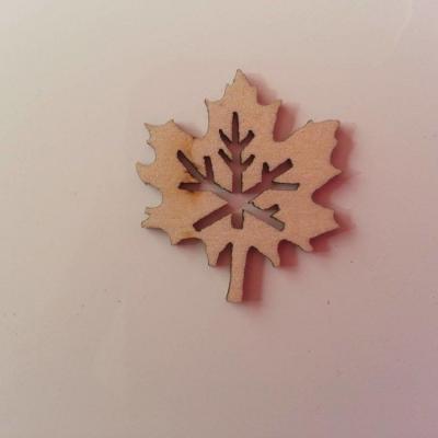 feuille en bois naturel   20*30mm (10)