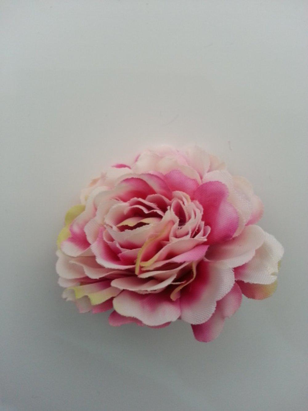 3541215 fleur artificielle en tissu ivoire et rose fuchsia 55mm 1