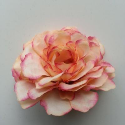 fleur artificielle en tissu peche rosé  55mm