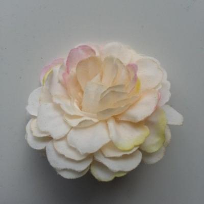 fleur artificielle en tissu ivoire rosé  55mm