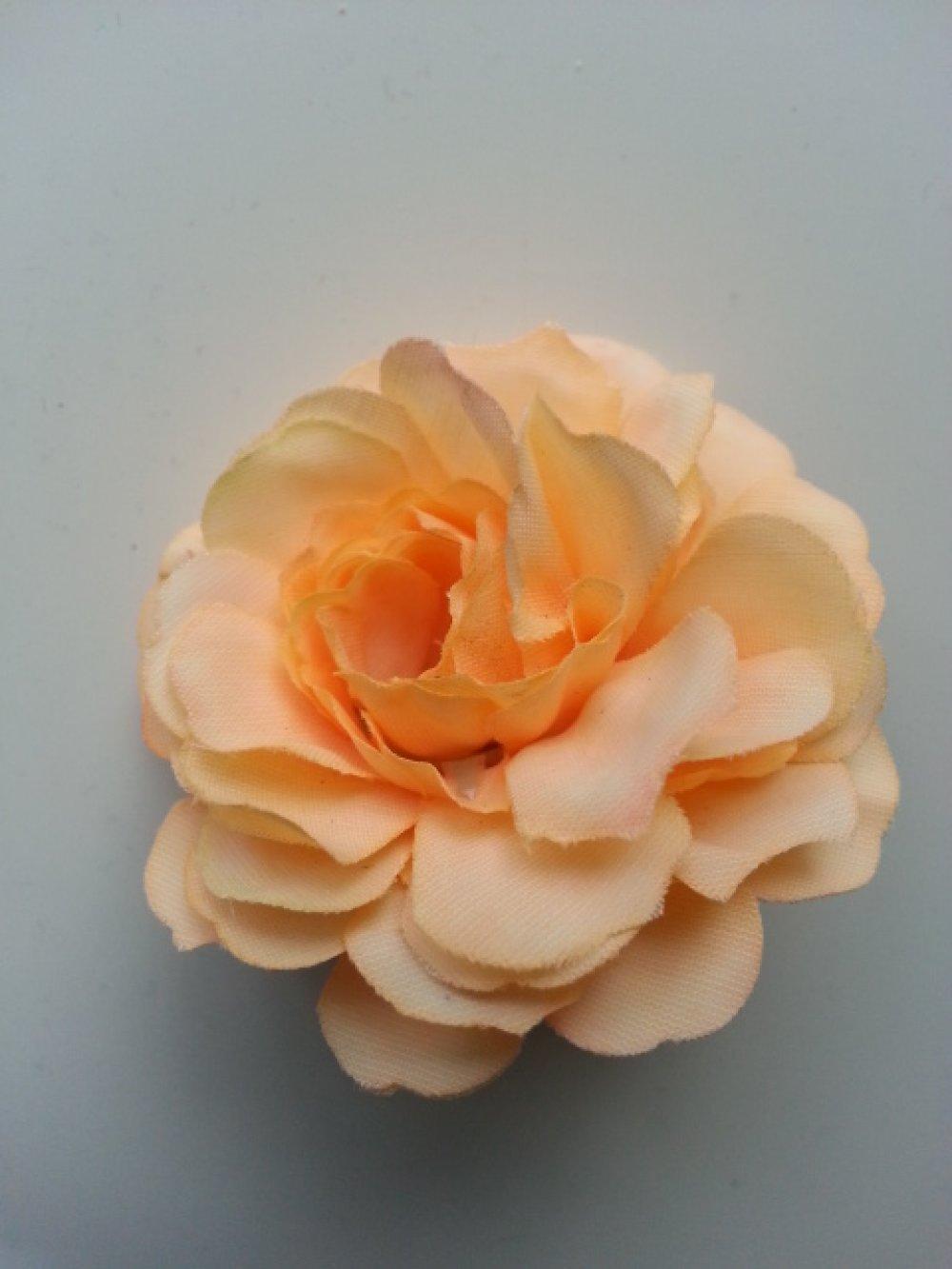 3541215 fleur artificielle en tissu ivoire et rose fuchsia 55mm 4