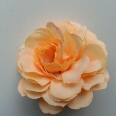 fleur artificielle en tissu peche clair 55mm