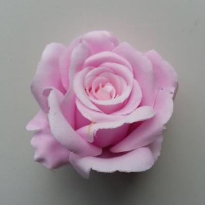 tête de rose artificielle en tissu mauve 70mm