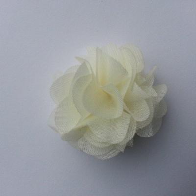 Petite fleur en mousseline 40mm ivoire