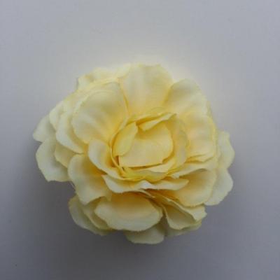 fleur artificielle en tissu jaune  55mm
