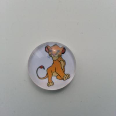 Cabochon en verre simba roi lion  20mm