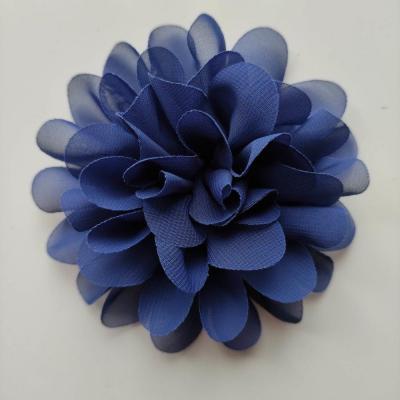 fleur mousseline bleu roi  10cm