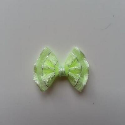 Petit noeud  de couleur vert et argenté    25*19mm