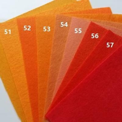 Feuille de feutrine unie 15 cm *15cm orange N50