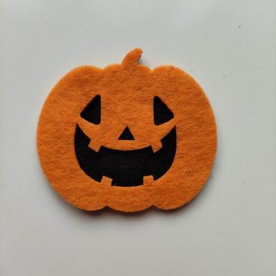3931948 citrouille halloween en feutrine orange et noir 55 50mm 1