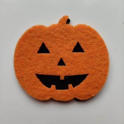 3931955 citrouille halloween en feutrine orange et noir 55 50mm 1