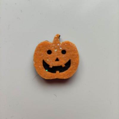 3931973 citrouille halloween en feutrine orange et noir 22 21mm 1