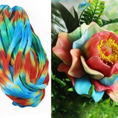 N0004 collant triple couleur  pour la création de fleurs, papillons, raquettes dragées