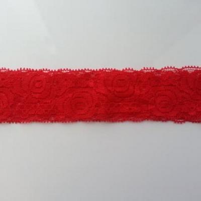 Bandeau dentelle rouge  40mm
