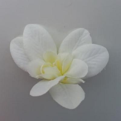 Orchidée  en tissu   70mm ivoire