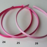 N24 Serre tête recouvert de satin 10mm rose fuchsia
