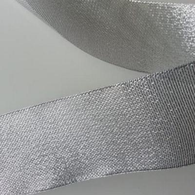 1 metre de ruban  argent metallisé 50mm de largeur