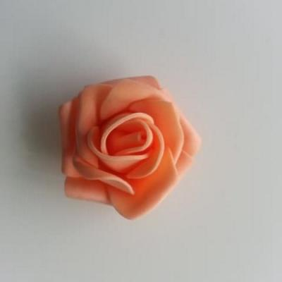 Tête de rose en mousse  35mm peche