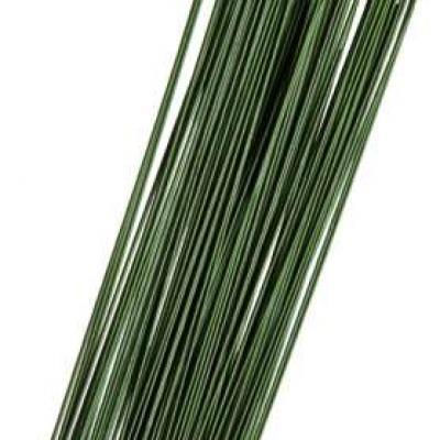 lot de 20 fils  de fer à tiger, vert de 0,08mm et de 40cm