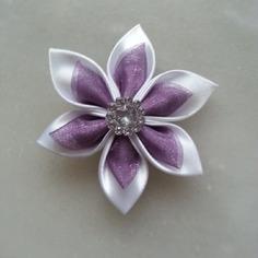 Autres accessoires bijoux 5 cm fleur de satin blanche et orga 9291712 supports penden5cdf c8591 236x236