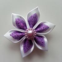 Autres accessoires bijoux 5 cm fleur de satin blanche et viol 9344229 decoration flor36de 29f82 236x236