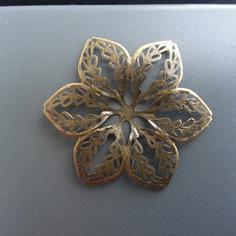 Autres accessoires bijoux estampe filigranee fleurs ronde 65 8410332 broche broche o046f 0a2c0 236x236